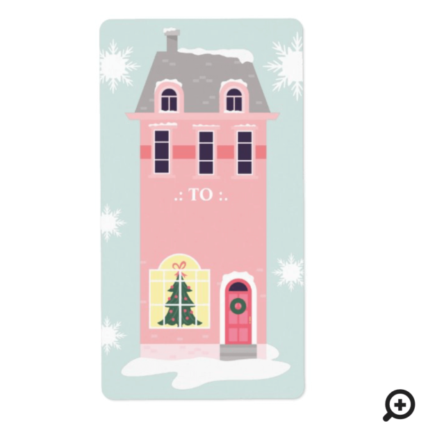Vintage Pink Home For The Holidays To Label