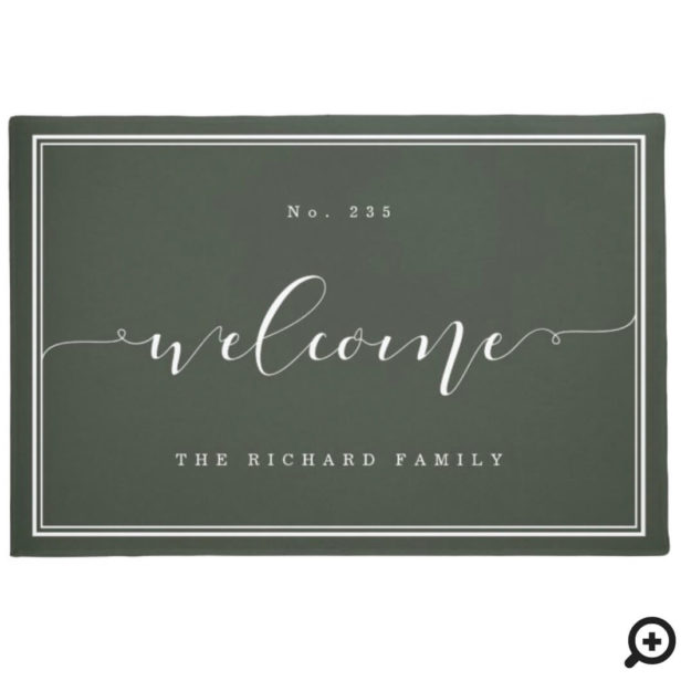 Welcome | Elegant Calligraphy House & Family Nam Green Doormat