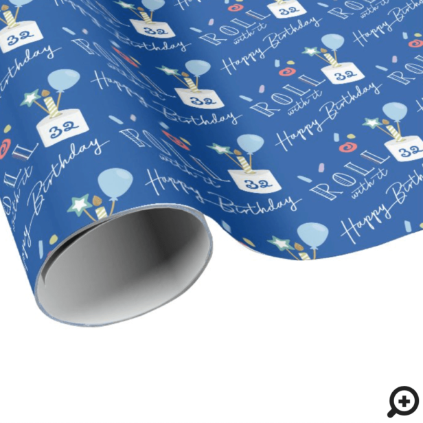 Fun Roll With It Covid Toilet Paper Birthday Cake Wrapping Paper