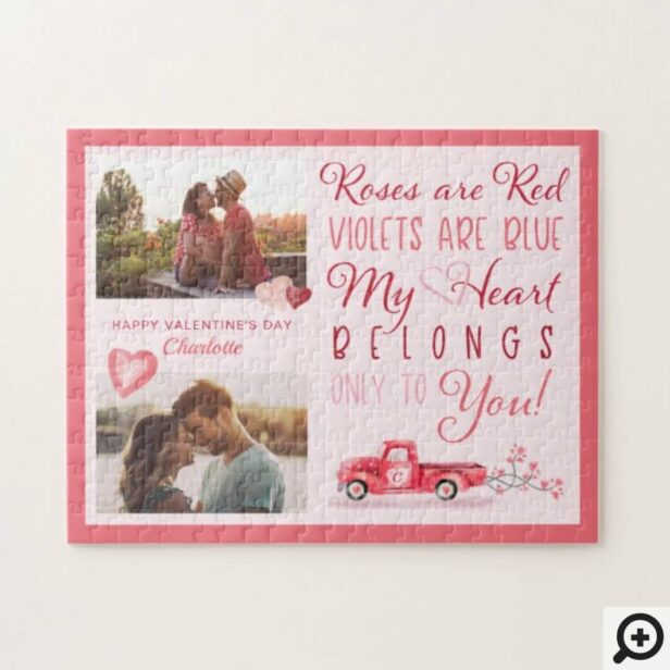 Valentine Love Poem Heart Belongs to You Photos Jigsaw Puzzle