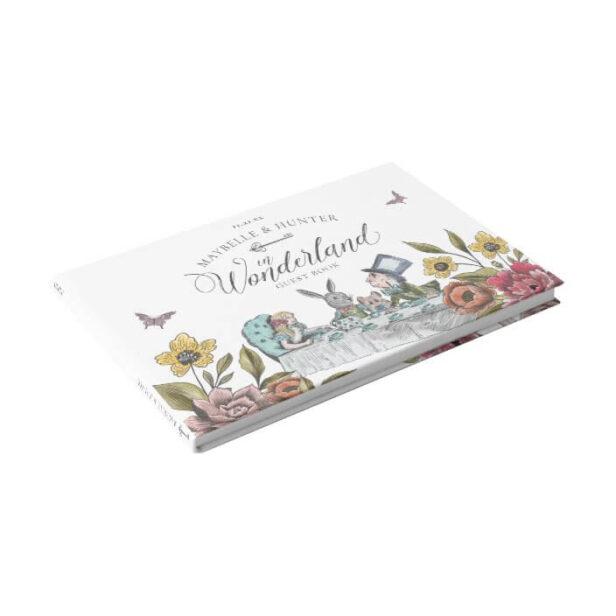 Alice In Wonderland Vintage Chic Storybook Wedding Guest Book
