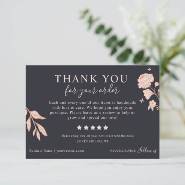 Floral Thank you for your Order Please Leave Us A Review