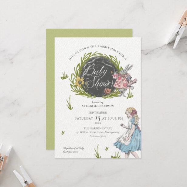 Vintage Alice In Wonderland | Down the Rabbit Hole Invitation