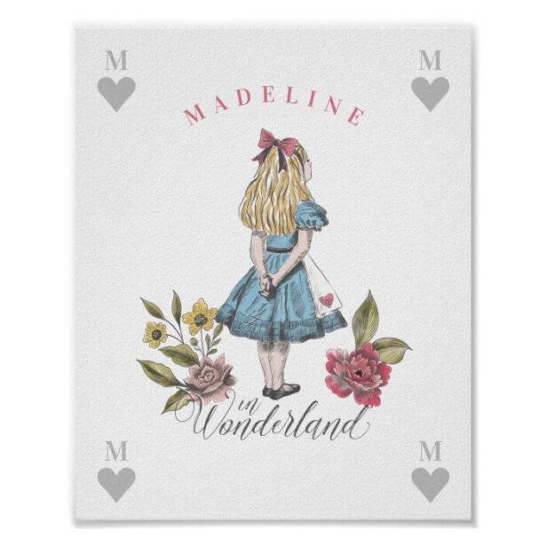 Vintage Alice in Wonderland | Alice & Florals Post Poster