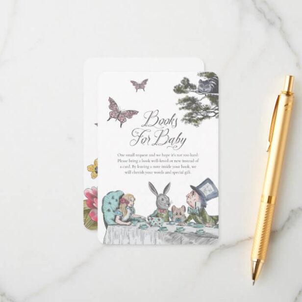 Vintage Alice in Wonderland | Books For Baby Tea Party Enclosure Card