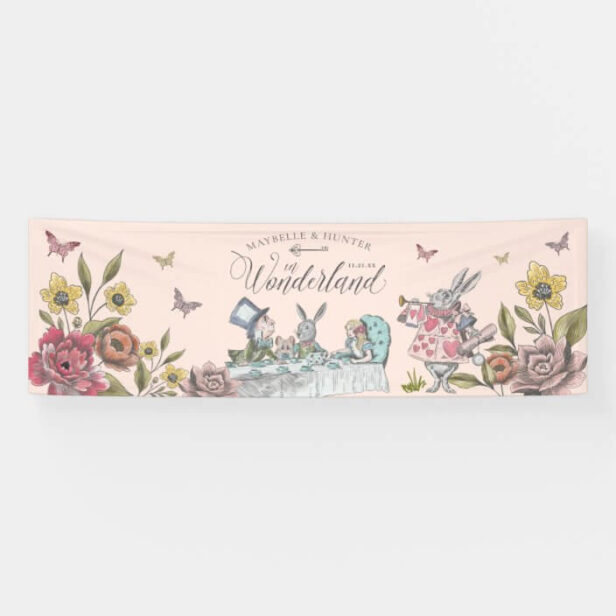 Alice In Wonderland Vintage Chic Storybook Wedding Banner