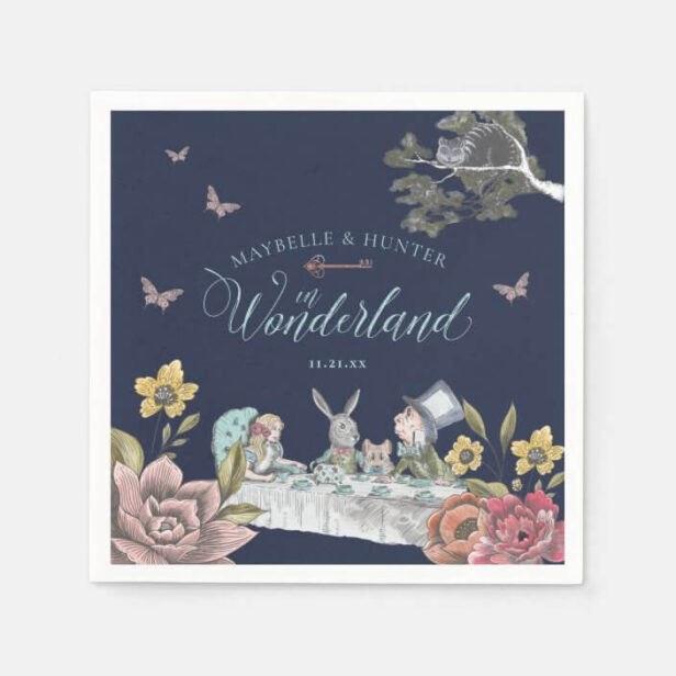Alice In Wonderland Vintage Chic Wedding Napkins