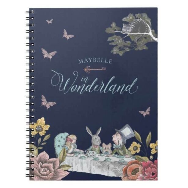 Alice In Wonderland Vintage Fairy Tale Theme Notebook