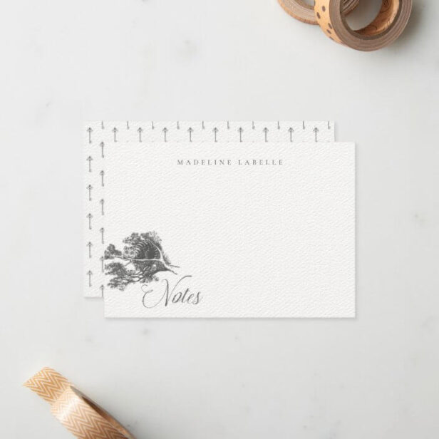 Cheshire cat Vintage Alice in Wonderland Name Note Card