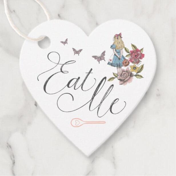 Eat Me! Vintage Alice in Wonderland Wedding Favor Tags
