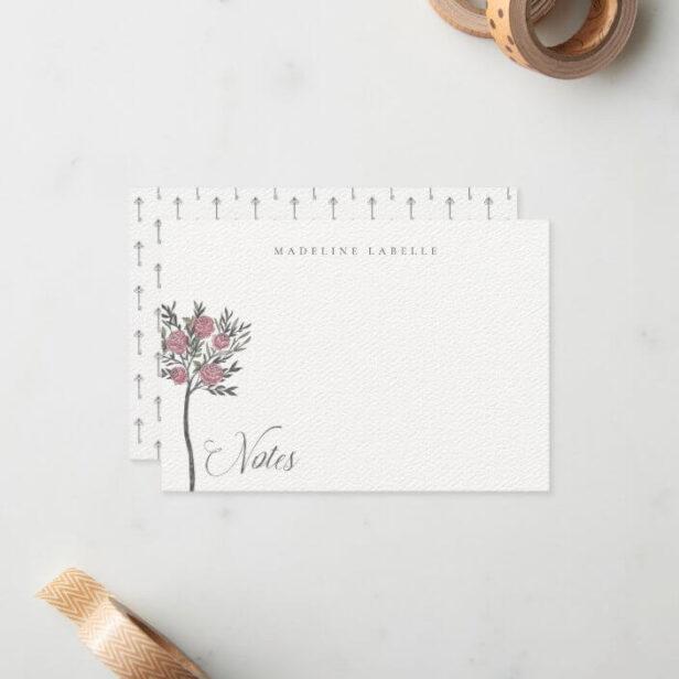 Rose Tree Vintage Alice in Wonderland Name Note Card