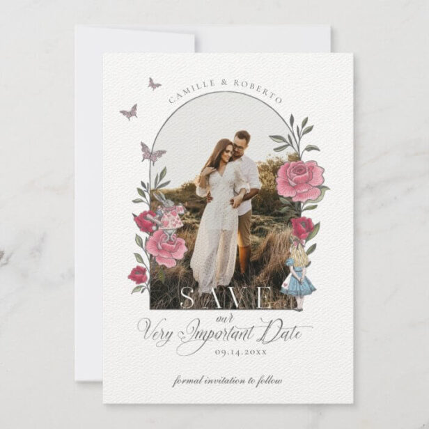 Vintage Alice In Wonderland Important Date Photo Save The Date