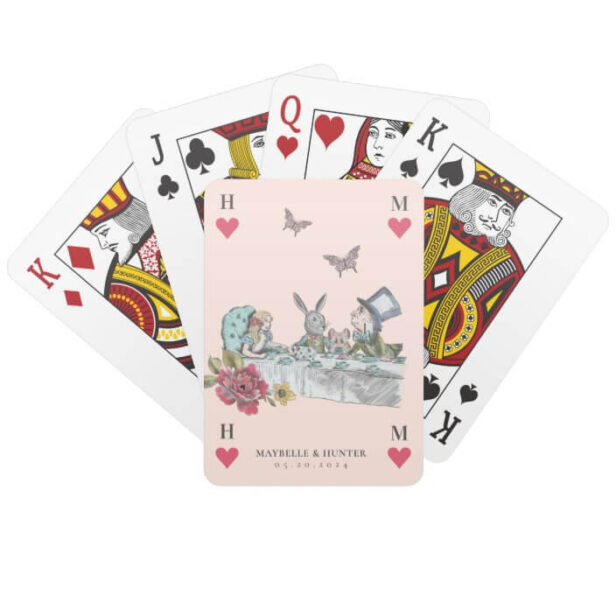 Vintage Alice in Wonderland Tea Party Playing Card