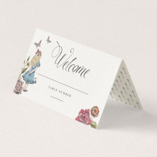 Welcome | Vintage Alice In Wonderland Fairytale Place Card