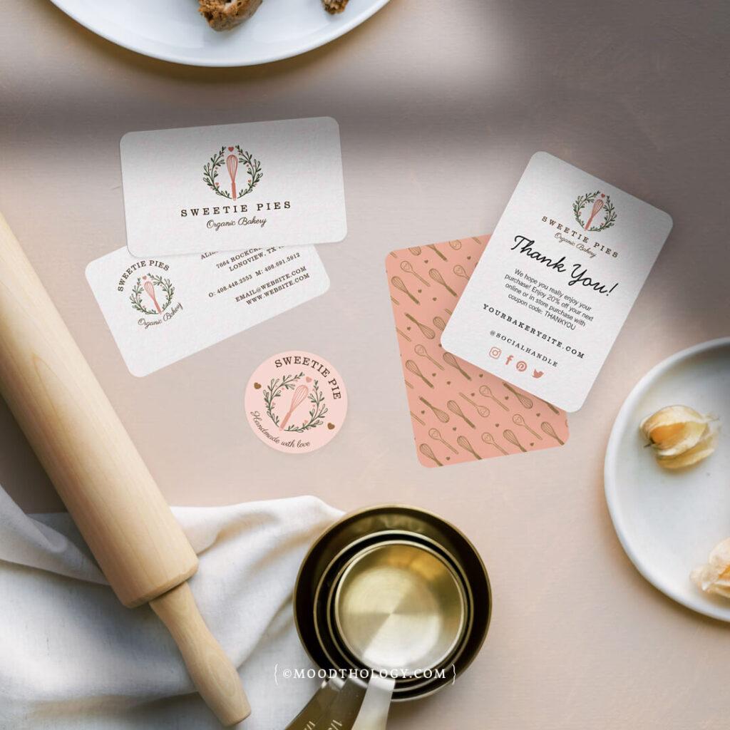 bakery business premade branding By Moodthology Papery