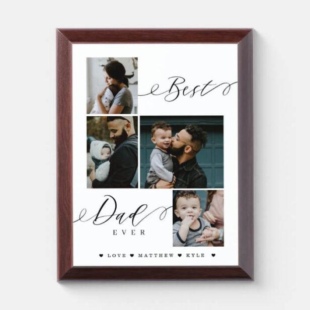Best Dad Ever Script | Family Photo Keepsake Photo Plaque