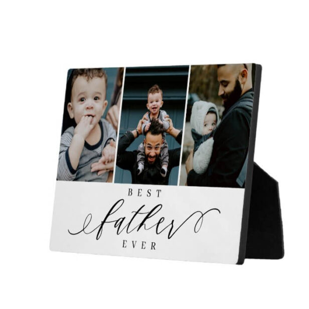 Best Father Ever | Father's Day Photo Collage Plaque