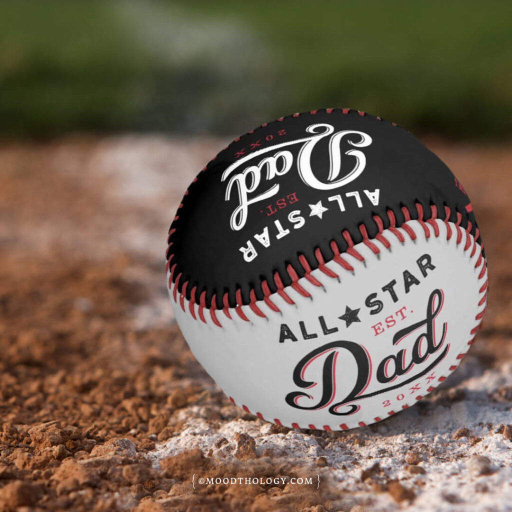 All Star Dad Personalized Baseball Father's Day Gift