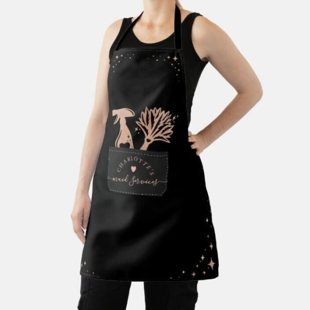 House Cleaning Fake Stitched Pocket Feather Duster Apron