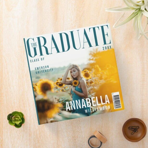 The Graduate Trendy Magazine Cover Graduation 3 Ring Binder