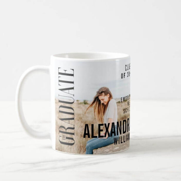 Trendy Magazine Cover Inspired Graduation Coffee Mug