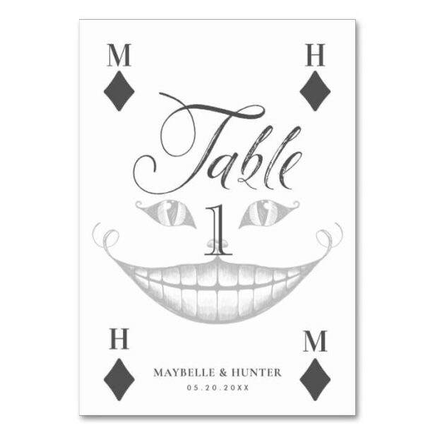 Alice in Wonderland Cheshire Smile Playing Card