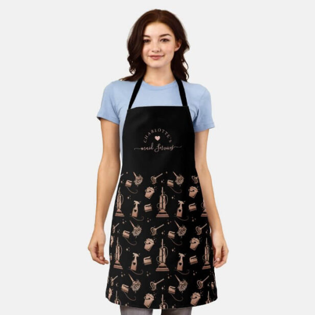 Cleaning Tools Professional Maid & House Cleaning Apron Black