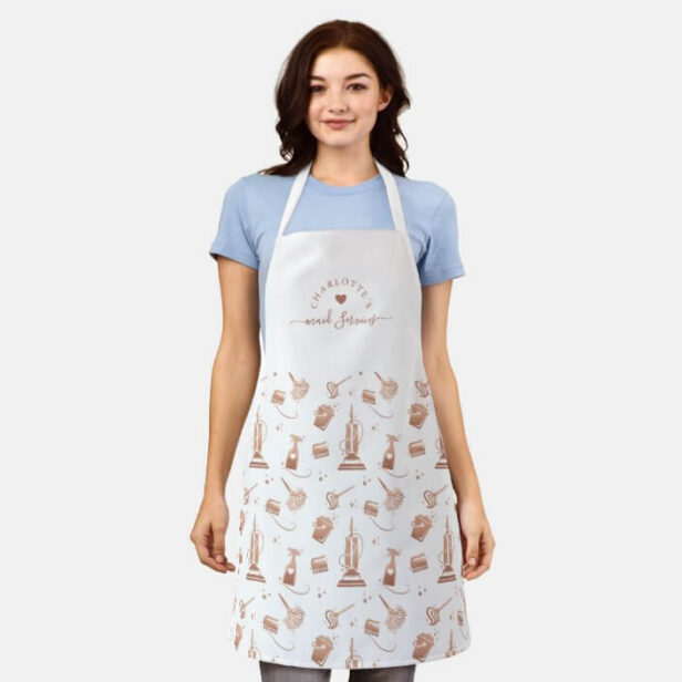 Cleaning Tools Professional Maid & House Cleaning Apron White