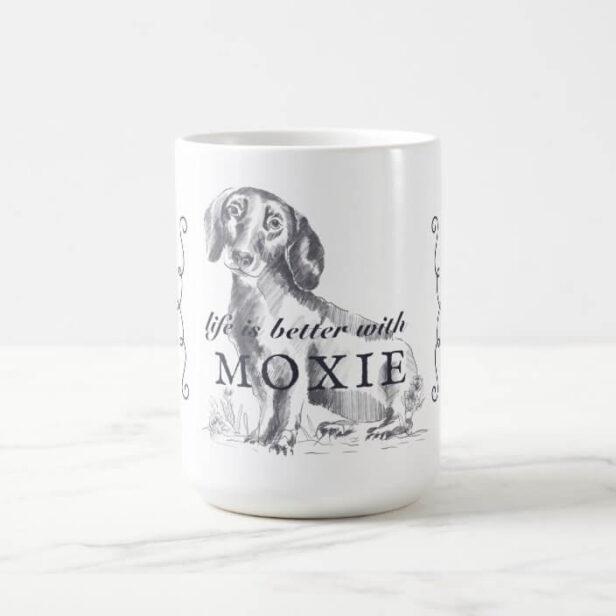 Dachshund Life Is Better With Custom Dog Name Coffee Mug