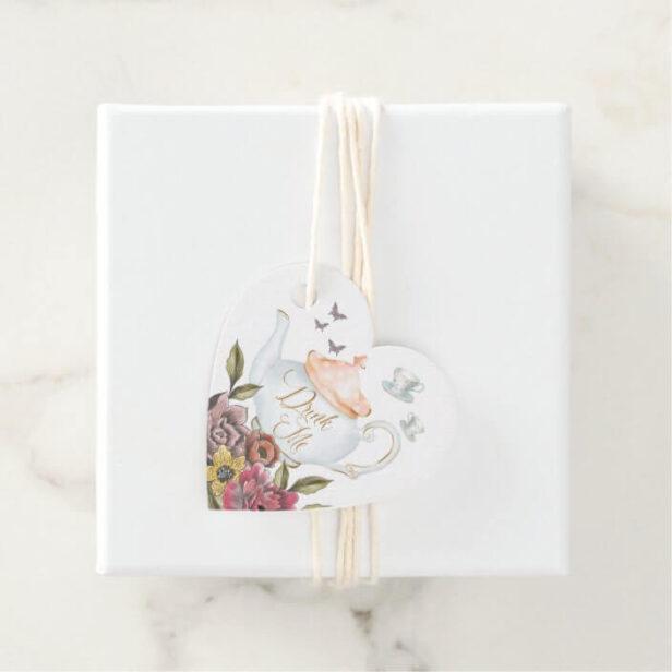 Drink Me | Teapot & Teacup Alice in Wonderland Favor Tags