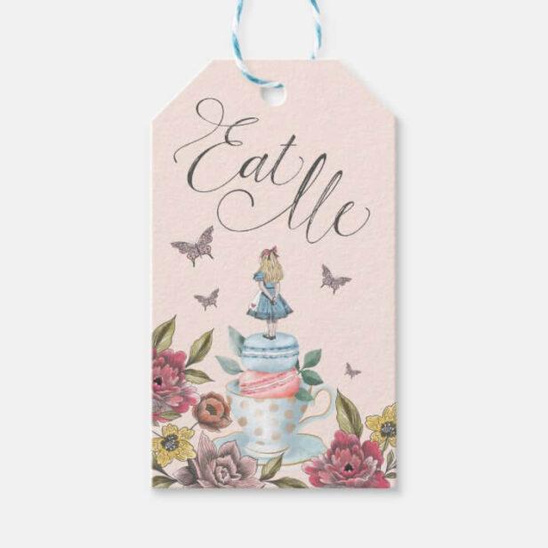 Eat Me! Alice in Wonderland Tea Cup & Macaron Gift Tags