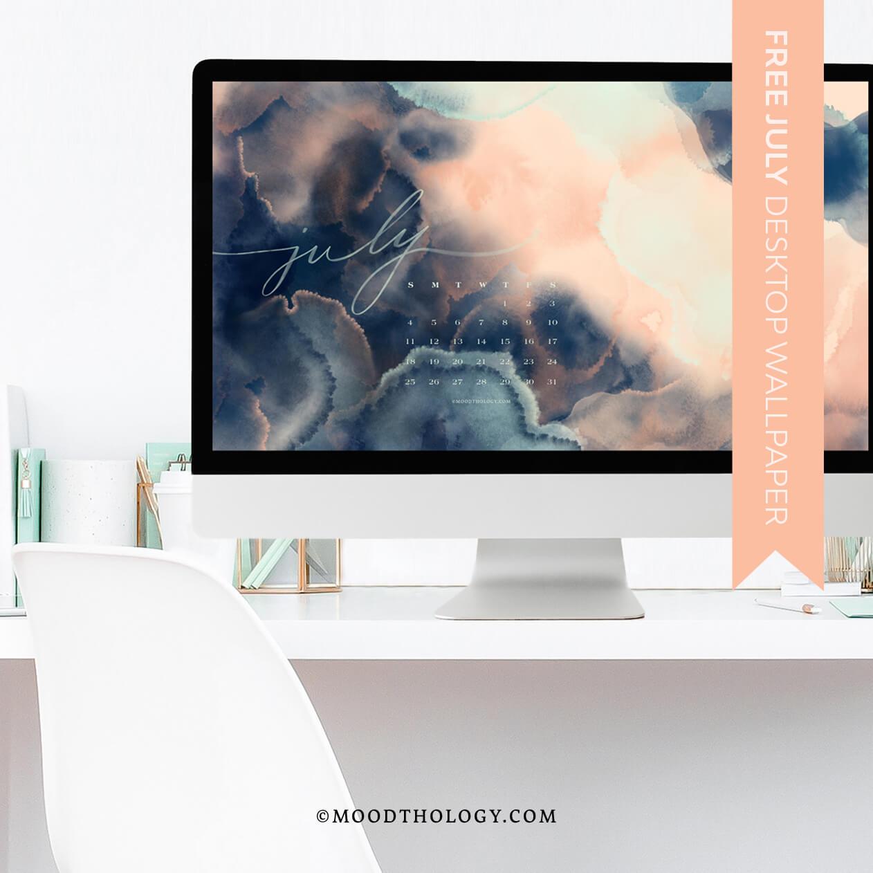 Moodthology Papery Julu 2021 Free Desktop Wallpaper Art