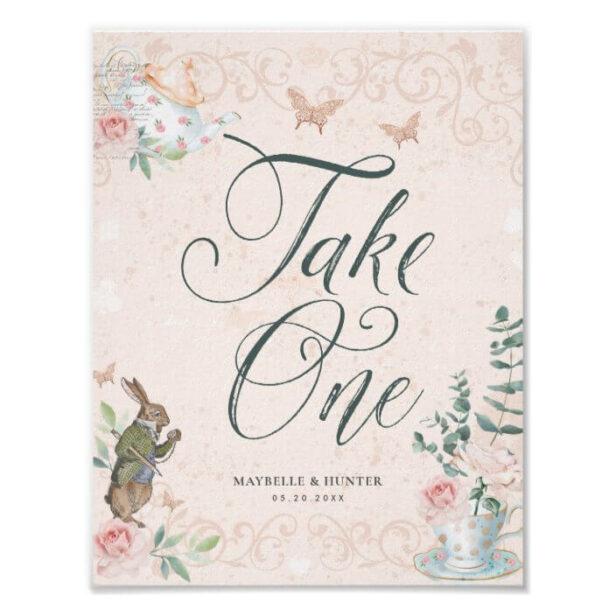 Take One   Vintage Alice In Wonderland Poster