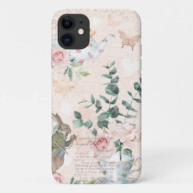 Vintage Alice In Wonderland Collage Decoupage Case-Mate iPhone Case