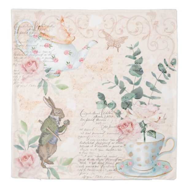 Vintage Alice In Wonderland Collage Decoupage Duvet Cover