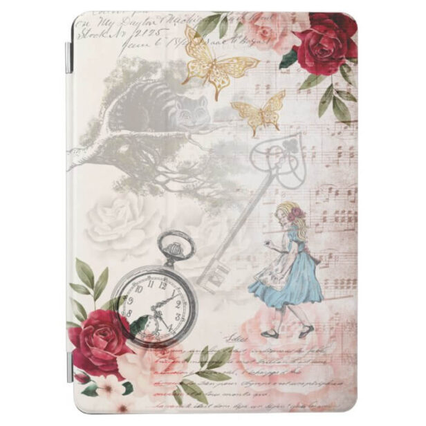 Vintage Alice In Wonderland Decoupage Collage iPad Air Cover