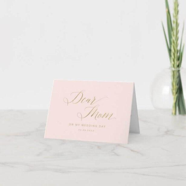 Dear Mom, On My Wedding Day | Message & Photo Thank You Card