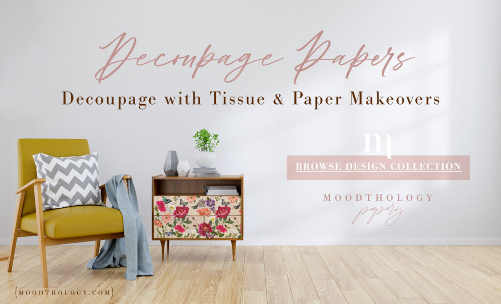 Beautiful Decoupage Ideas & Tissue Papers