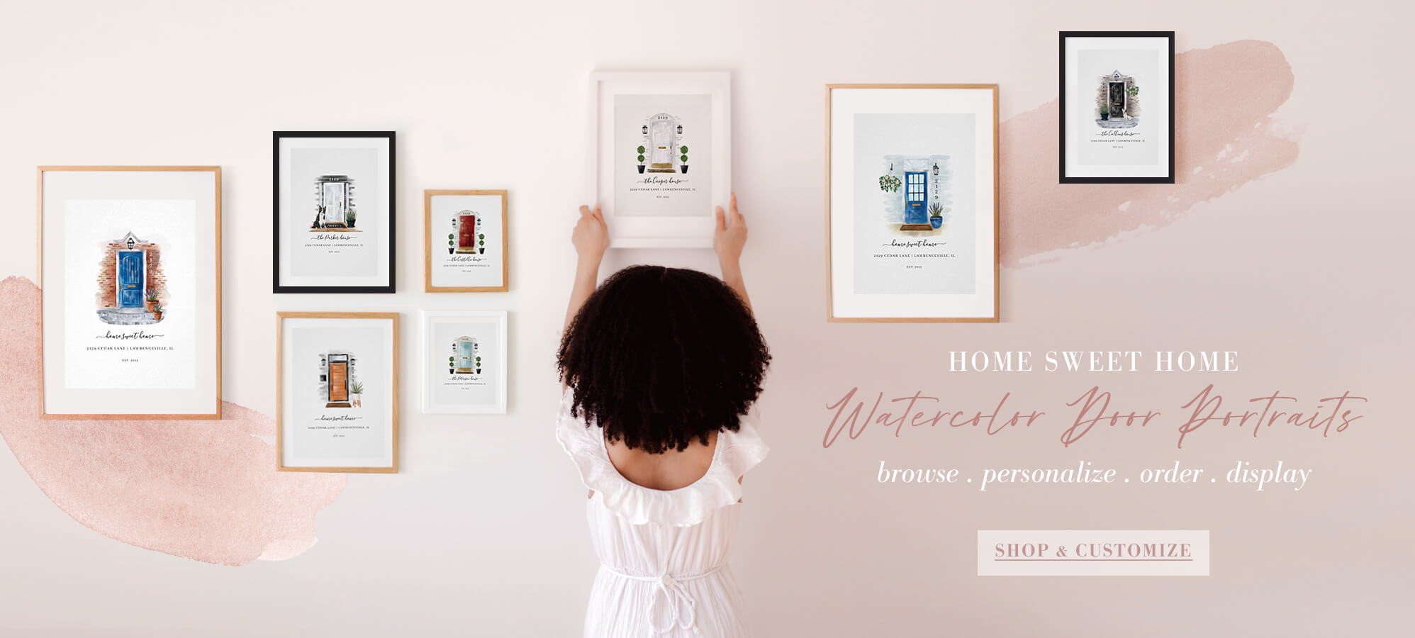 Beautiful Personalized Home And Door Portraits