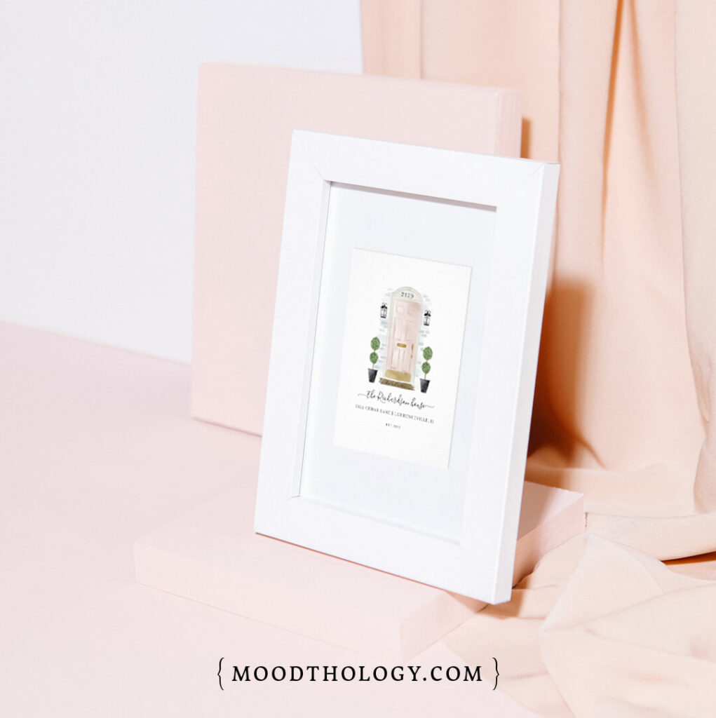 Home Sweet Home Watercolor Family Door Portraits Prints By Moodthology Papery