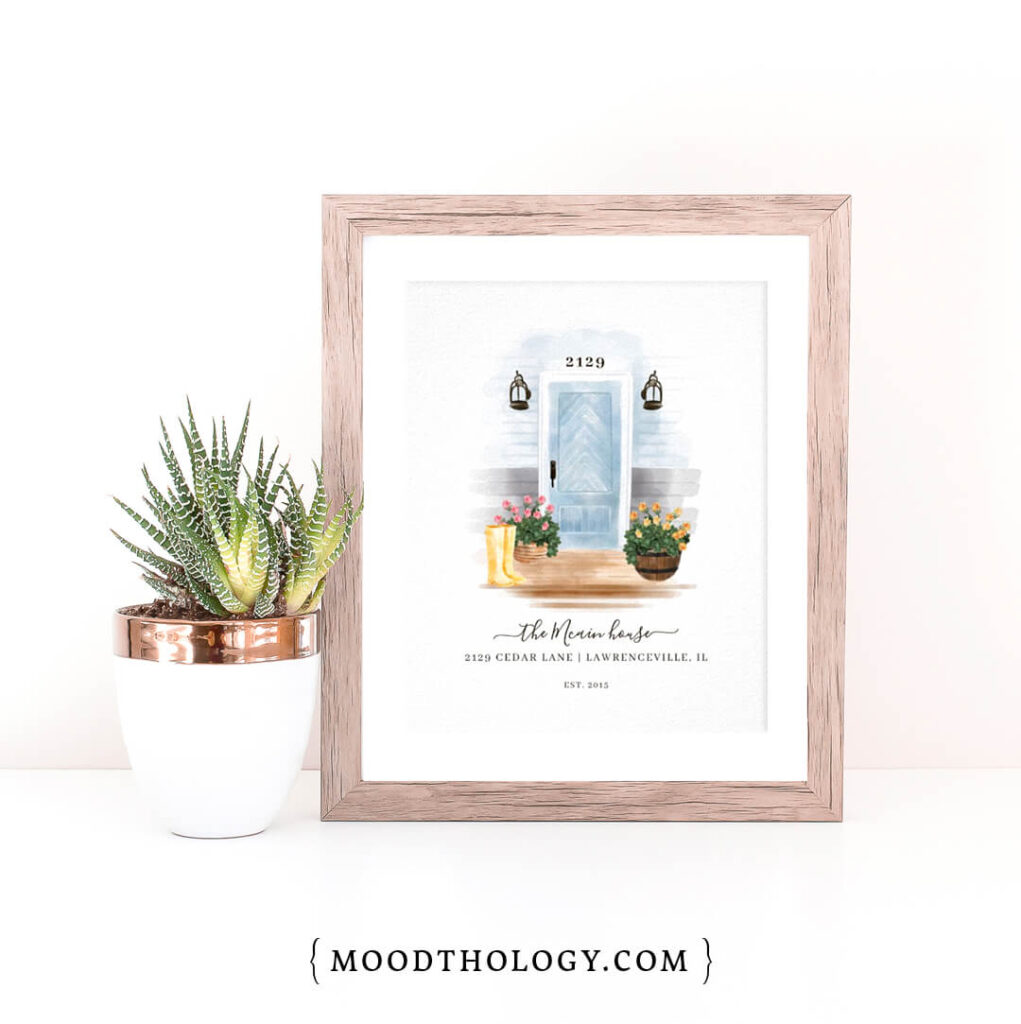 Home Sweet Home Watercolor Door Portraits Prints By Moodthology Papery