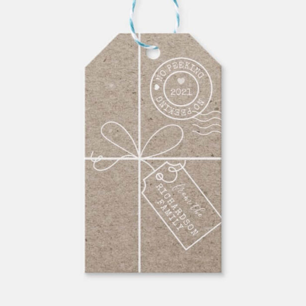 No Peeking Parcel To From Kraft Paper Gift Tags