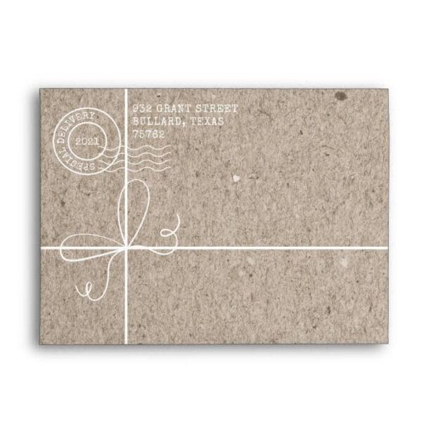 Special Delivery Kraft Paper Parcel Family Address Envelope