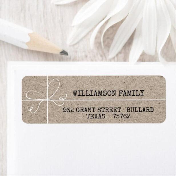 Special Delivery Kraft Paper Parcel Family Address Label