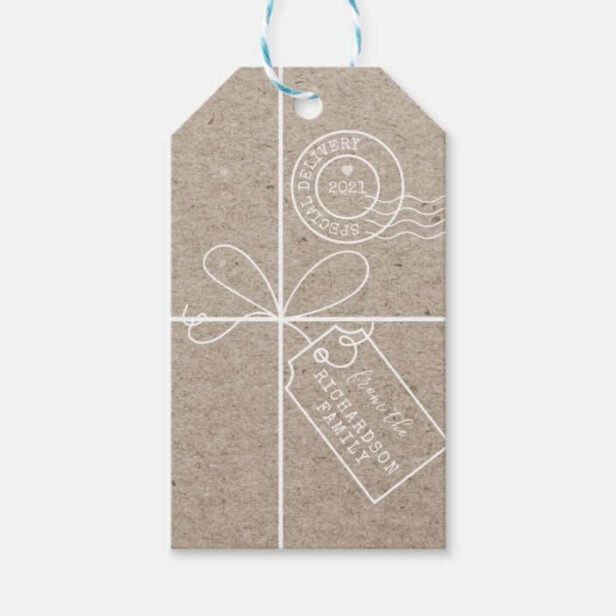 Special Delivery Parcel To From Kraft Paper Gift Tags