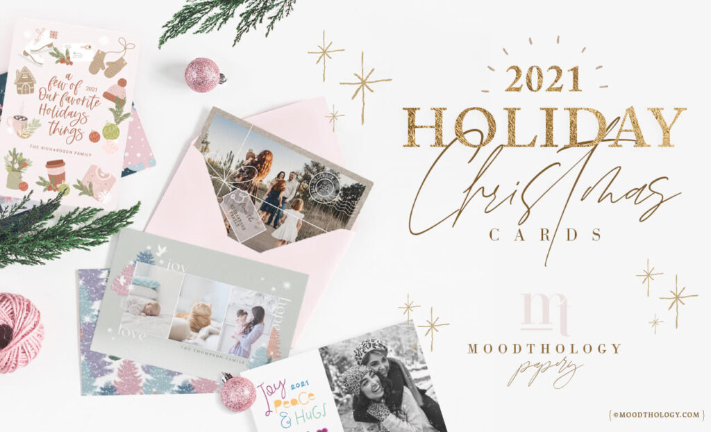 2021 Holiday Christmas Cards Trending This Season Moodthology Papery