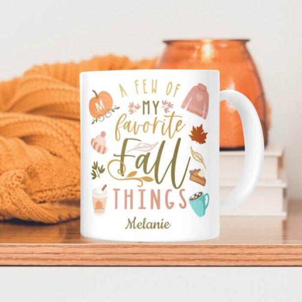 A Few of My Favourite Fall Things | Fall Seasonal Coffee Mug