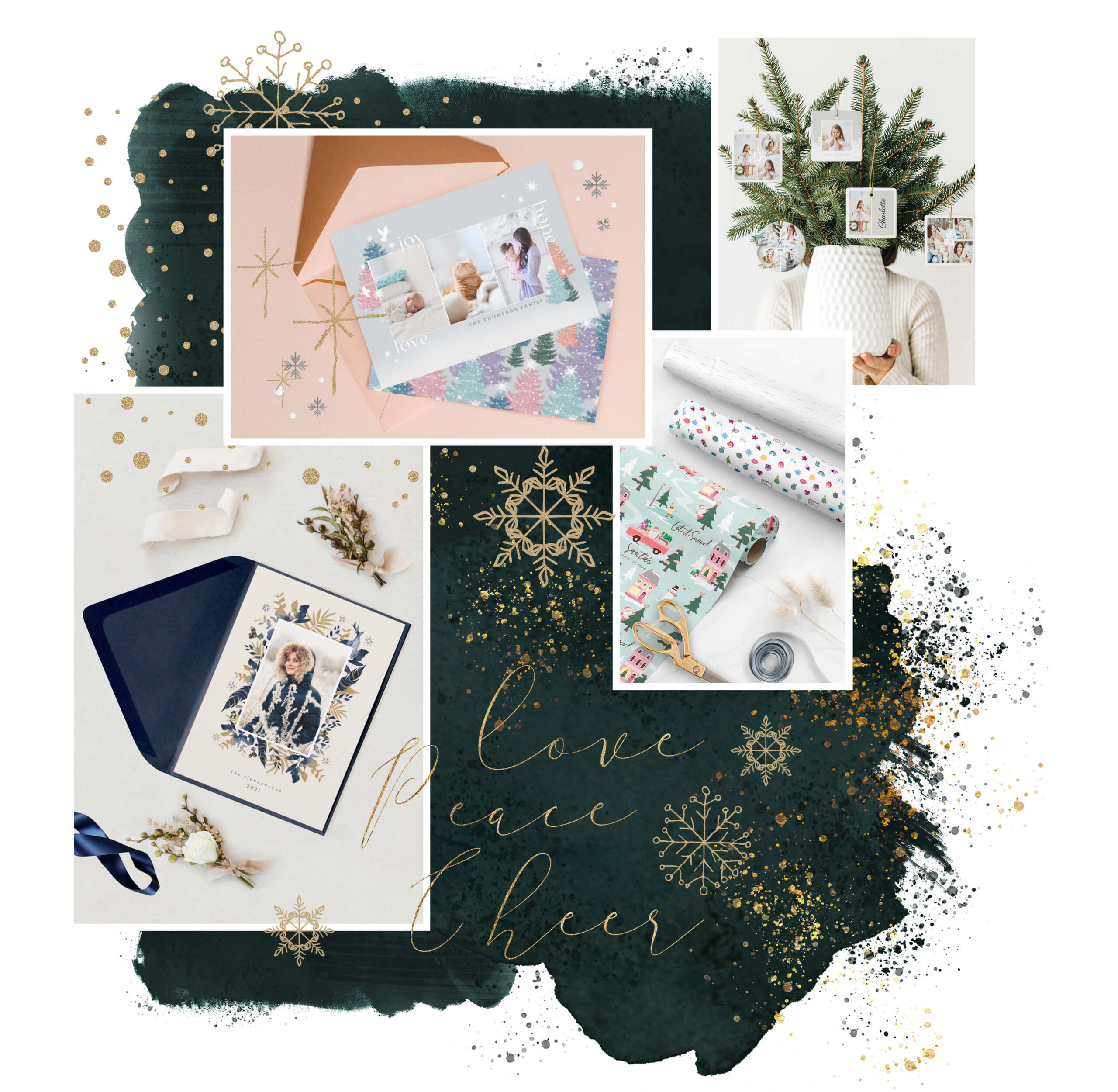 Festive Holiday & Christmas Greeting cards, Paper, Ornaments and More By Moodthology Papery