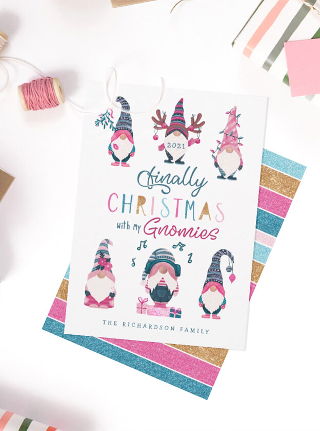Christmas With My Gnomies By Moodthology Papery