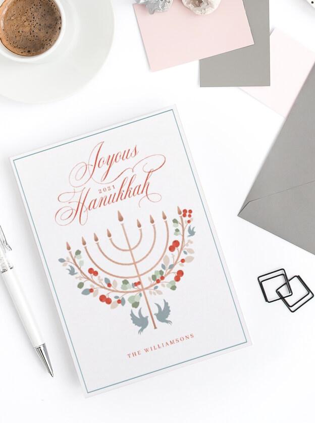 Joyous Hanukkah By Moodthology Papery